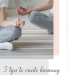 5 tips for harmony
